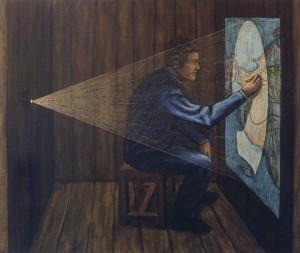 Como la pintura (mapa), 2003. 50 x 61. Óleo sobre lienzo.