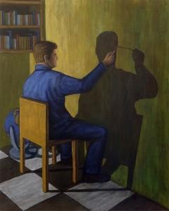 Autorretrato, 2003.  100 x 81.  Óleo sobre lienzo.