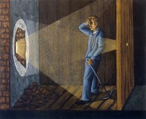 Proyección, 2003. 38 x 46 cm. Óleo sobre lienzo.