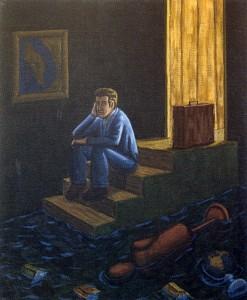 Olvido, 2003.  46 x 38 cm.  Óleo sobre lienzo.