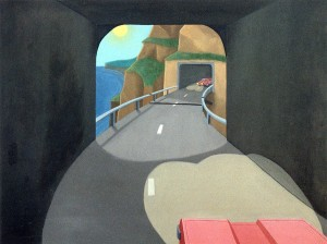 El túnel ciego, 1994. Óleo sobre tela, 116 x 89 cm.