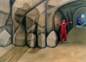 En casa, 1994. Óleo sobre tela, 54 x 73 cm.
