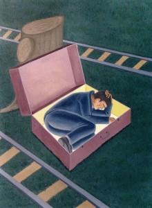 Sin equipaje, 1994. Óleo sobre tela, 73 x 54 cm.