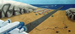 El gran día, 1995. Óleo sobre tela, 190 x 90 cm.