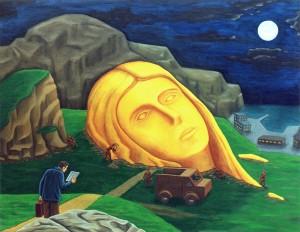 Arqueología sentimental, 1998. Óleo sobre tela, 116 x 89 cm.