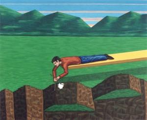 Cae la tarde, 1998. Acrílico sobre tela, 38 x 46 cm.