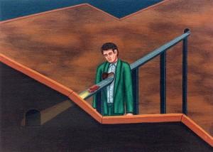 Cierto vacío, 1998. Acrílico sobre tela, 24 x 33 cm.