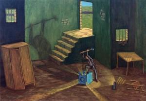 El extraño triunfo de Amaro Carabel, 1998. Óleo sobre tela, 81 x 116 cm.