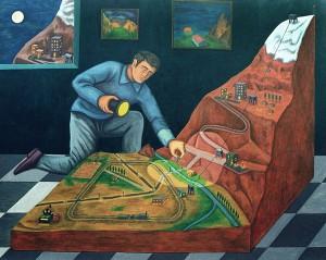 El resto del mundo, 1998. Óleo sobre tela, 130 x 165 cm.
