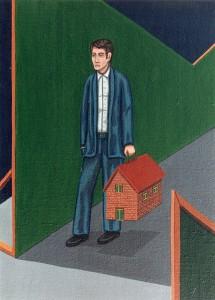 El genio del lugar, 1998. Acrílico sobre tela, 54 x 65 cm.
