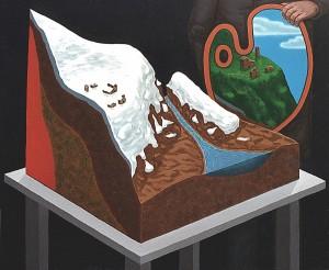 Paisaje interior (bastante simpático), 1998. Acrílico sobre tela, 54 x 65 cm.