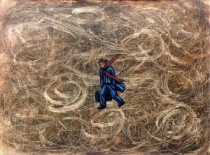 Los mapas ciegos I, 1999. Óleo sobre tela, 23 x 30 cm.