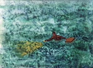 Los mapas ciegos VII, 1999. Óleo sobre tela, 23 x 30 cm.