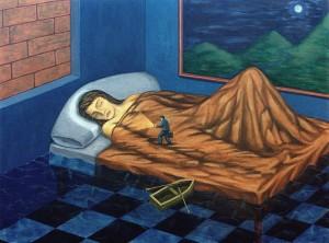 Si fuera la noche, 1999. Óleo sobre lienzo, 97 x 130 cm.