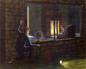 Esperando el regreso, 2003. 81 x 100 cm. Óleo sobre lienzo.