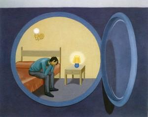 Viaje a Elbo, 1993. Óleo sobre lienzo, 73 x 92 cm.