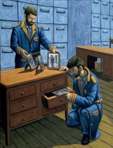 La memoria de los  demonios, 2006.  116 x 89 cm.  Óleo sobre lienzo.