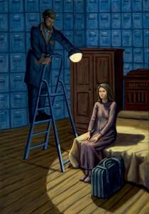 María recordada por los demonios, 2006.  116 x 81 cm.  Óleo sobre lienzo.