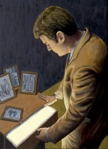 La memoria de Homúnculo 1, 2006. 100 x 73 cm. Óleo sobre lienzo.