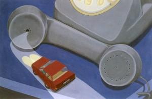 Sin té, 1993. Óleo sobre lienzo, 60 x 93 cm.