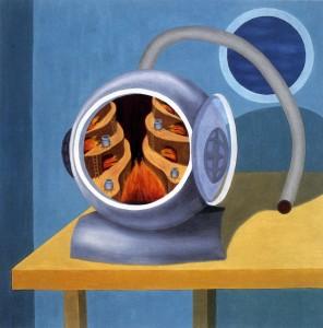Cierto sentido común,  1992. Óleo sobre lienzo,  89 x 89 cm.