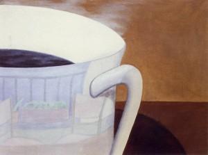 El paisaje esquivo 3:00.PM, 1992. Óleo sobre lienzo, 61 x 46 cm.