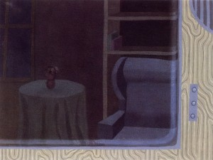 El paisaje esquivo 8.00.PM, 1992. Óleo sobre lienzo, 61 x 46 cm.
