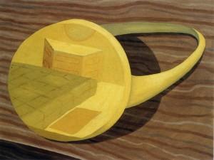 El paisaje esquivo 9.00.AM, 1992. Óleo sobre lienzo, 61 x 46 cm.